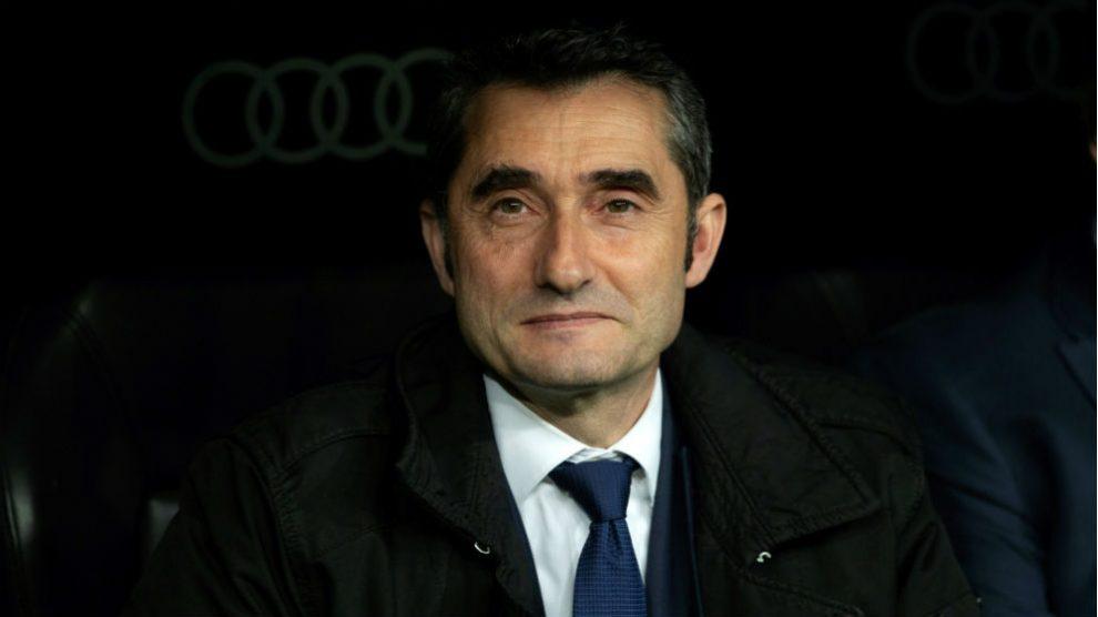 Ernesto Valverde, durante un partido. (EFE)