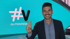 Álvaro Benito, posando por los visuales de Movistar.