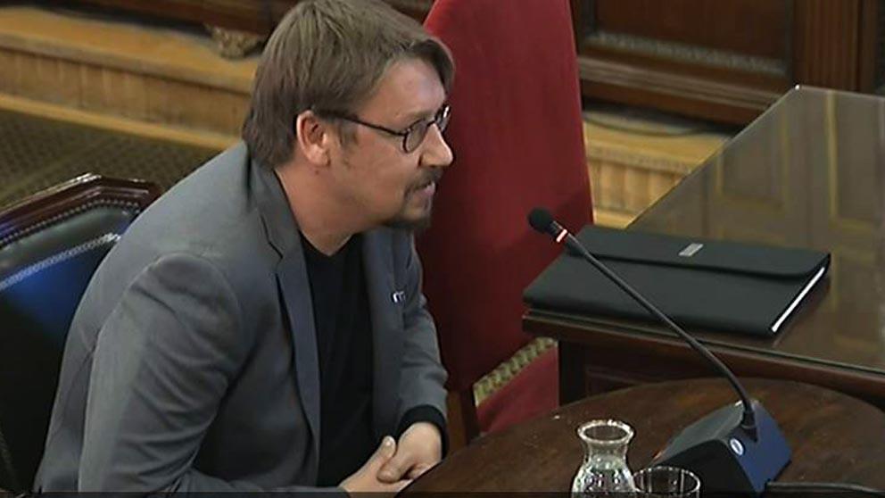 El podemita Xavier Domènech ante el Supremo.