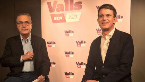 Manuel Valls y Celestino Corbacho. Foto: Europa Press