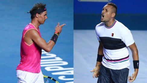 Rafael Nadal y Nick Kyrgios. (Getty)