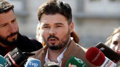 Gabriel Rufián tras declarar esta semana en el juicio del 'procés' (EFE).