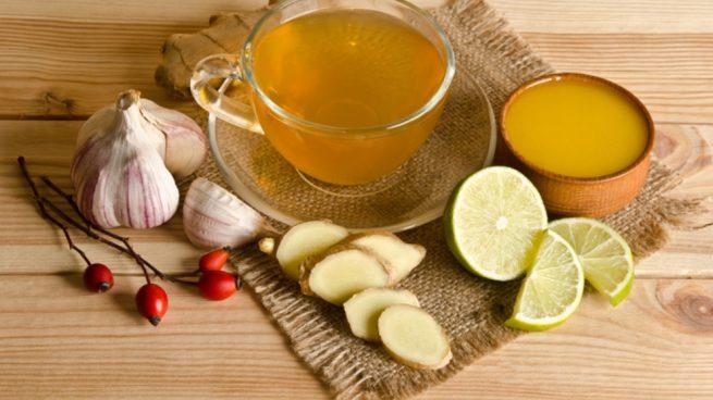 Un te de ajo con limon para bajar de peso