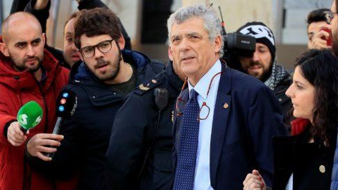 Ángel María Villar, a su llegada a la Audiencia Nacional para declarar por el caso Soule. (EFE)