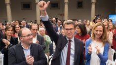 El presidente de la Xunta de Galicia y del PpdeG, Alberto Núñez Feijóo, ha conmemorado los 10 años que se cumplen este 1 de marzo de su primera victoria electoral en la Xunta de Galicia. Foto: Europa Press