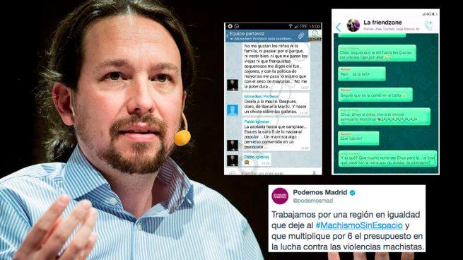 """Podemos persigue machistas en WhatsApp pero olvida a Iglesias que """"azotaría hasta sangrar"""" a Mariló"""