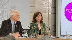 Calvo y Borrell, durante la rueda de prensa de este viernes. Foto: Joan Guirado