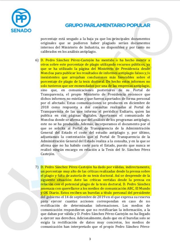 La investigación de la tesis 'fake' concluye que Sánchez usó recursos públicos para defenderse de OKDIARIO