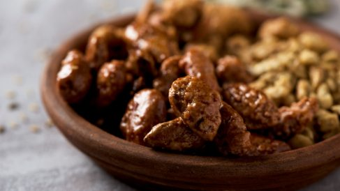 Receta de cacahuetes garrapiñados