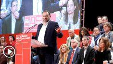 Ábalos en la presentación de candidatos a los municipios madrileños, este domingo (Foto: EFE).