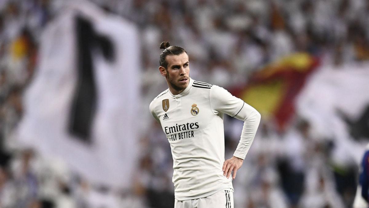 Bale durante el encuentro frente al Barcelona (AFP).