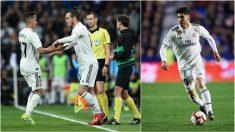 Gareth Bale y Marco Asensio, alternativas a Lucas Vázquez. (Getty)