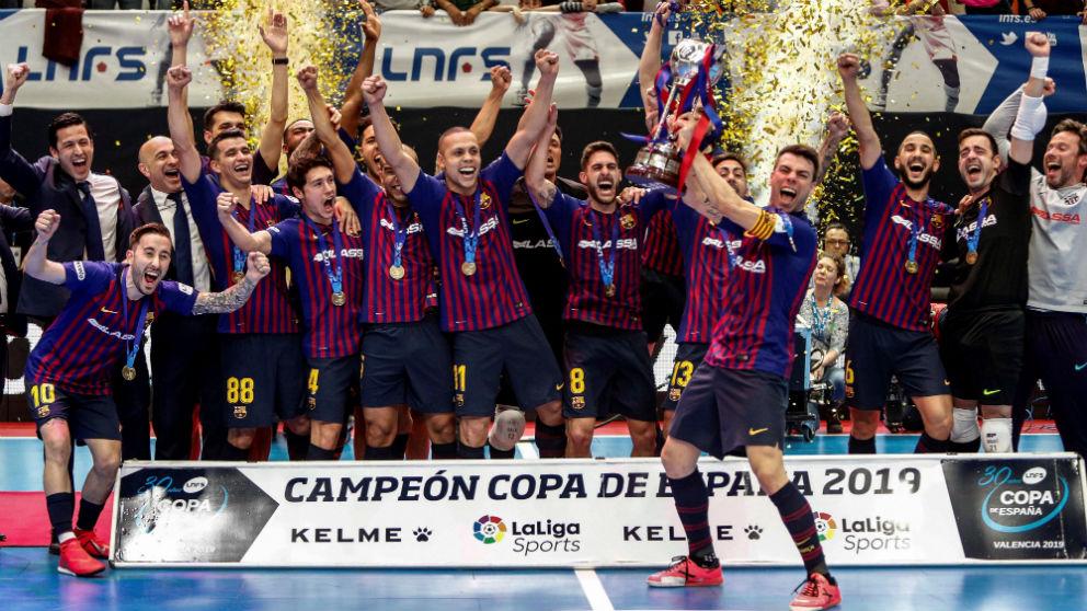 El Barcelona gana la Copa de España de Fútbol Sala. (EFE)