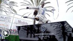 Los Angeles Galaxy homenajeó a Beckham con la primera estatua de la historia del a MLS.