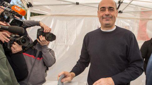 El gobernador de la región del Lazio, Nicola Zingaretti, se ha convertido este domingo en el nuevo secretario general del Partido Democrático italiano tras obtener una aplastante victoria en las primarias. Foto: Europa Press
