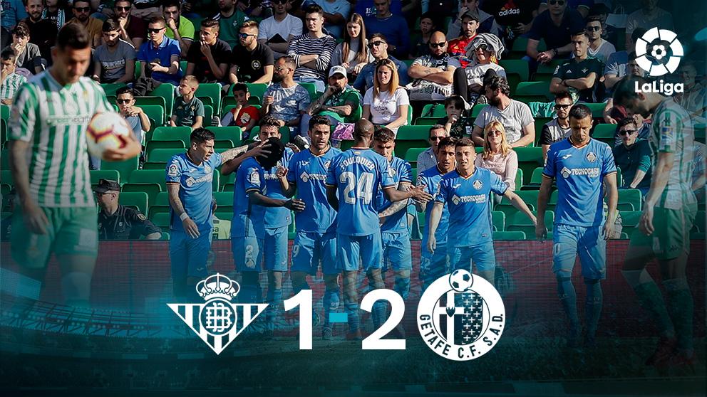 El Getafe gana al Betis en el Villamarín.