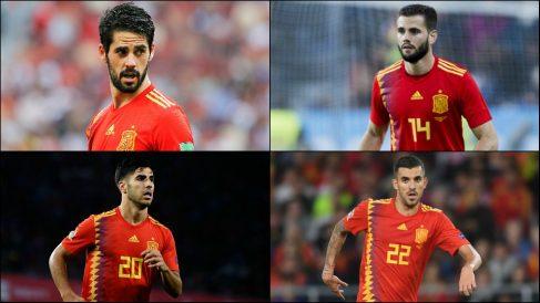 Isco, Asensio, Nacho y Ceballos.