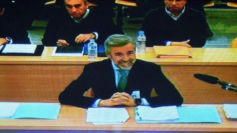 Ángel Acebes, este lunes en el juicio a Bankia