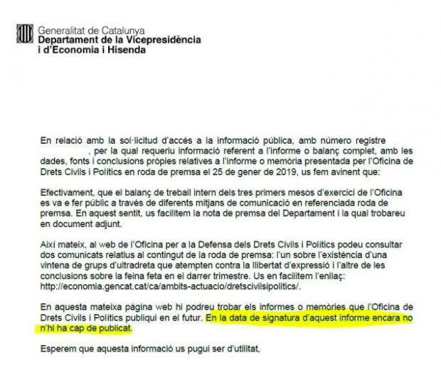 Los Mossos destinaron recursos antiyihadista a defender Cataluña de una amenaza fascista