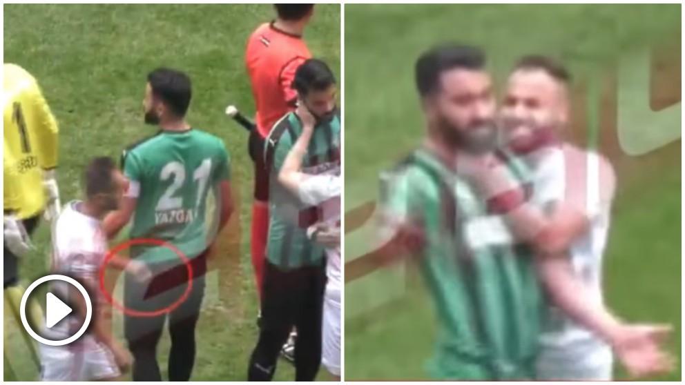 Un futbolista turco atacó a varios rivales con una cuchilla.