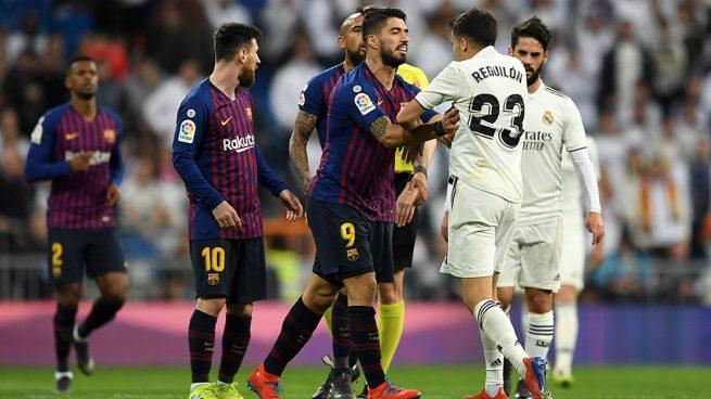 Reguilón se encaró a Messi y Suárez