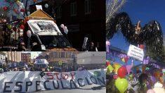 Imágenes del desfile politizado.