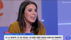 La número 2 de Podemos, Irene Montero, en TVE.