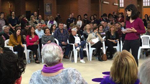 Isa Serra presentando su candidatura a la Comunidad de Madrid. (Foto. OKDIARIO)