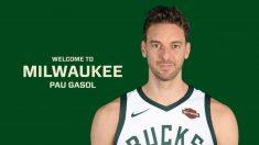 Pau Gasol ficha por Milwaukee Bucks. (Foto: Milwaukee Bucks)