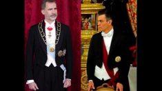 El Rey Felipe VI y Pedro Sánchez en el Palacio Real.