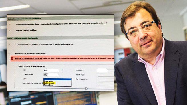 El socialista Vara mete el género 'intersexual' en los formularios para las ayudas de la PAC