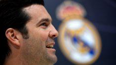 Solari, en la rueda de prensa previa al Real Madrid-Ajax. (AFP)