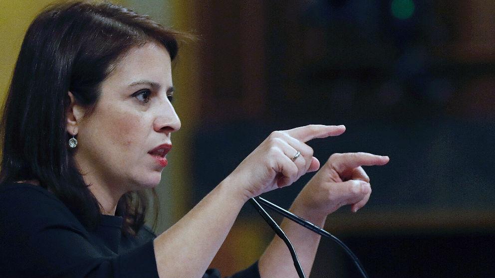 Adriana Lastra, portavoz parlamentaria del PSOE en el Congreso.