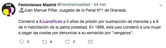 El 8M 'feminista' acosa a jueces que no les gustan haciendo públicos sus nombres y sentencias
