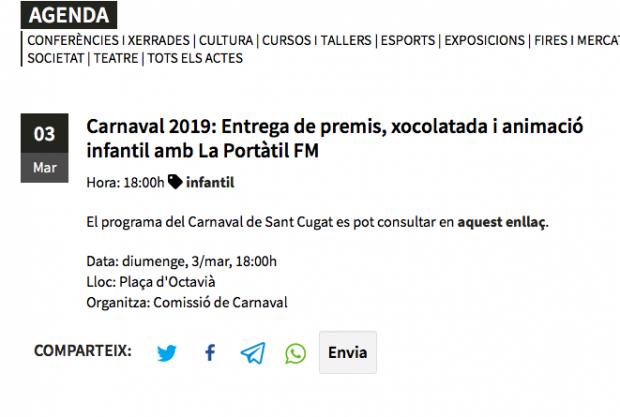 Sant Cugat crea una versión independentistas del