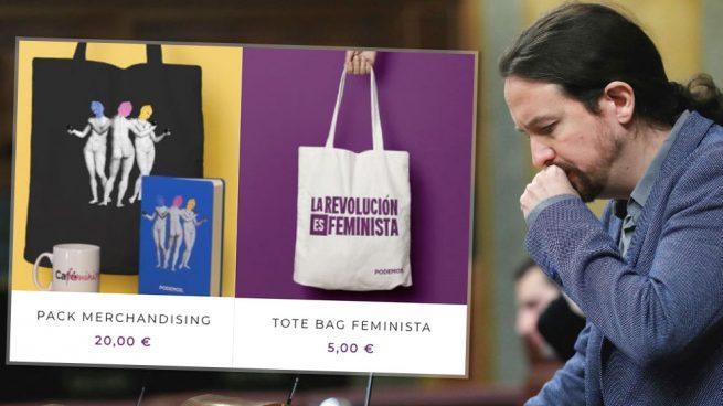 Podemos ataca el 'patriarcado' pero hace caja con él: Vende 'merchandising' feminista para financiarse