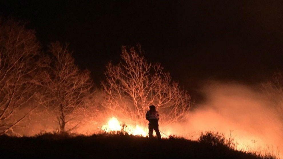 Incendio en Cantabria. Foto: Europa Press