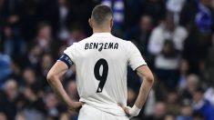Karim Benzema, en el Real Madrid – Ajax. (AFP)