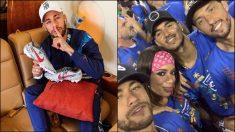 Neymar disfruta de los carnavales de Río de Janeiro.
