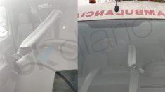 Los conductores de ambulancia han instalado un tubo para llevar la calefacción a la parte trasera del vehículo.