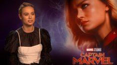 La actriz Brie Larson durante la presentación de 'Capitana Marvel' en España. Foto: Europa Press