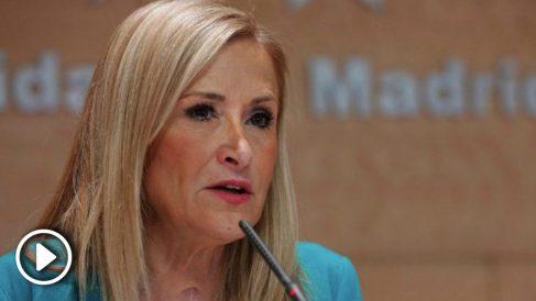 La expresidenta de la Comunidad de Madrid Cristina Cifuentes. (Foto. Comunidad)