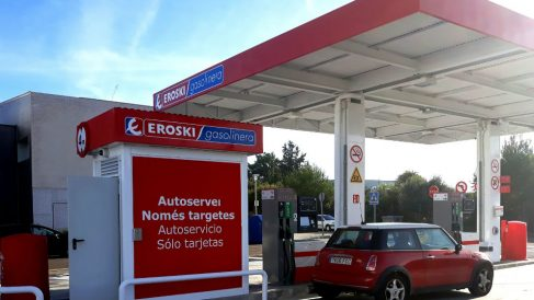 Una gasolinera de Eroski en Mallorca