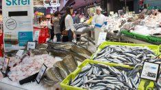 Una lonja de pescado de Eroski