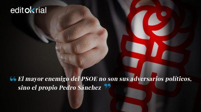 El filoseparatismo de Sánchez dinamita el PSOE