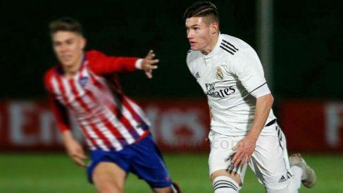 Fran García, en un partido ante el Atlético. (Realmadrid.com)