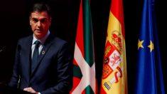 """El presidente del Gobierno, Pedro Sánchez, durante su intervención este miércoles en la apertura de la Conferencia Internacional de Cambio Climático """"Change the Change"""""""