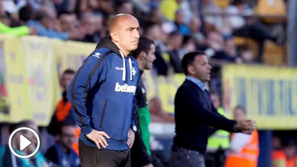 Abelardo, en un partido del Alavés. (EFE)