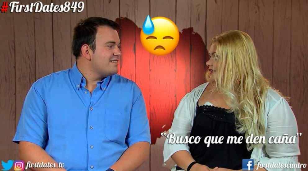 Diego y Antonella en 'First Dates' (Foto: Twitter)