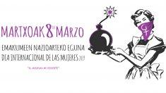 Cartel del Ayuntamiento de Ermua para celebrar el día internacional de la mujer
